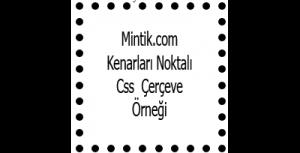 Css  Çerçeve Şekillendirme | mintik.com